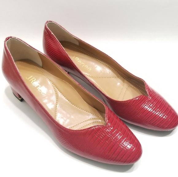 aa569d2a465 J.Renee Bambalina Lizard Patent Leather Heel Pump